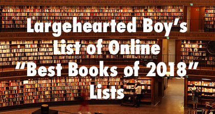 Best Books of 2018  Lists Update - December 8th
