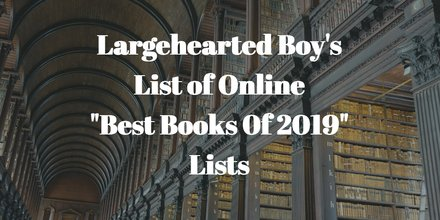 Best Books of 2019  Lists Update - November 25th